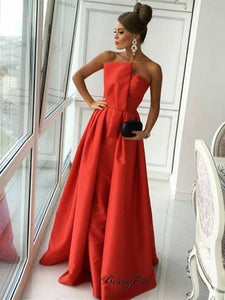 Unique Strapless Design 2020 Prom Dresses, Newest Prom Dresses, Long Prom Dresses