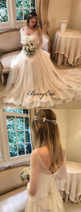 Newest Fashion Chiffon Wedding Dresses, Popular A-line Wedding Dresses