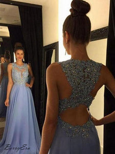 Rhinestones Beads Tulle Long Prom Dresses, A-Line Prom Dresses, Bling Party Dresses