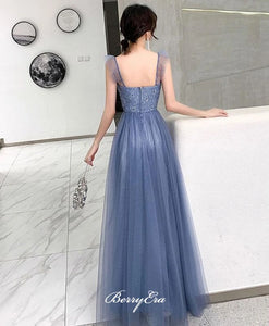 A-line Tulle 2020 Newest Prom Dresses, Long Prom Dresses, Party Prom Dresses