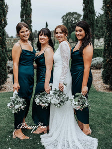 Spaghetti Straps Bridesmaid Dresses, Cheap Simple Bridesmaid Dresses