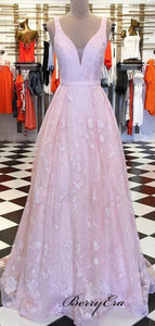 Formal Latest A-line Prom Dresses, Modest Lace Long Prom Dresses