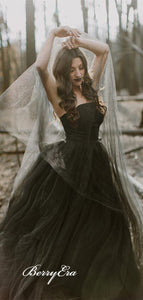 Strapless Tulle A-line Wedding Dresses, Sweetheart Newest Wedding Dresses