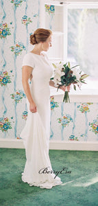 Cap Sleeves Simple Wedding Dresses, Cheap Wedding Dresses, Popular Bridal Gown