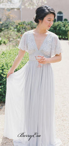 V-neck Lace Bridesmaid Dresses, Popular New Fashion Bridesmaid Dresses