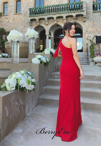 One Shoulder Party Prom Dresses , Long Prom Dresses, 2020 Prom Dresses