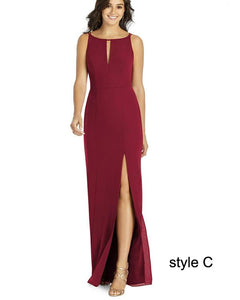 Mismatched Newest Long Bridesmaid Dresses, Wedding Guest Dresses