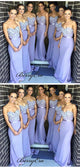 Strapless Elegant Bridesmaid Dresses, Fancy Appliques Mermaid Bridesmaid Dresses
