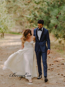 Simple Strapless Wedding Dresses, Lace Wedding Dresses,Cheap Wedding Dresses