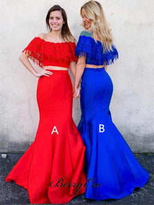 Modest Prom Dresses, Two Pieces Prom Dresses, Newest  Prom Dresses