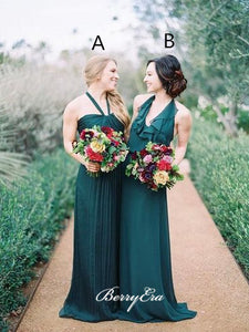 Mismatched Chiffon Long Bridesmaid Dresses, Popular Bridesmaid Dresses