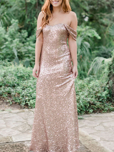 Off Shoulder Long Bridesmaid Dresses, Sequin Bridesmaid Dresses, Bridesmaid Dresses