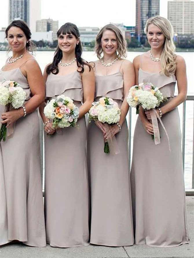Simple Design Long Bridesmaid Dresses, Popular Bridesmaid Dresses, Cheap Bridesmaid Dresses