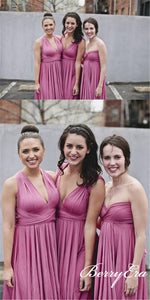 Short Rose Convertible Bridesmaid Dresses