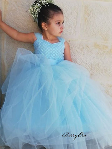 Little Girl Wedding Tulle Flower Girl Dresses