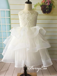 Sleeveless Lace Top Tulle Lovely Flower Girl Dresses