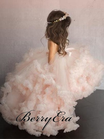 Fluffy Hi-Low Tulle Flower Girl Dresses Lovely Little
