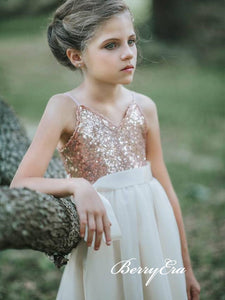 Lovely Sequin Top Tulle A-line Flower Girl Dresses