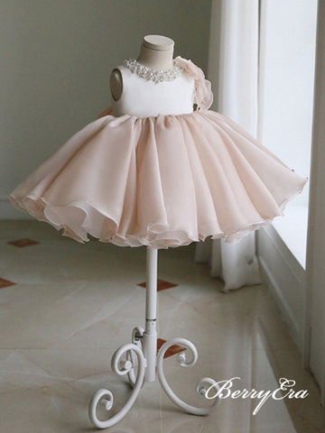 Lovely Sleeveless Beaded Tulle Flower Girl Dresses