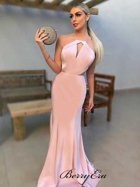 Sweetheart Halter Long Prom Dresses, Sexy Mermaid Prom Dresses 2019