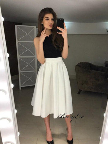 Halter A-line Homecoming Dresses, Backless Homecoming Dresses