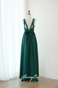 Sleeveless Emerald Green A-line Bridesmaid Dresses