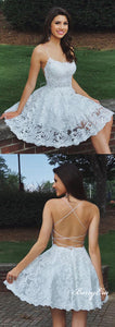 Lovely Lace Short Prom Dresses, Lace Homecoming Dresses, Homecoming Dresses