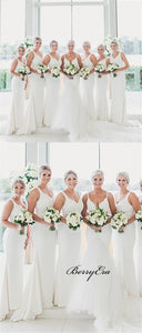 Elegant Long Mermaid Bridesmaid Dresses, Simple Bridesmaid Dresses