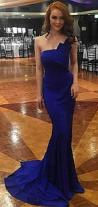 Royal Blue Mermaid Prom Dresses Strapless 2019 Fashion Spandex Sexy Evening Gowns Long Dress