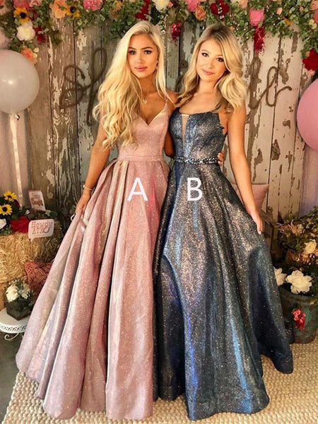 Formal Party Long Prom Dresses, A Line Taffeta Prom Dresses