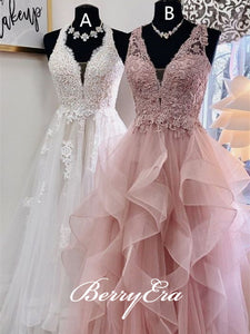 Gorgeous Lace Tulle Prom Dresses, Popular Prom Dresses, New Arrival Prom Dresses