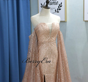 Luxury Sequin Tulle Long Prom Dresses, Formal Evening Dresses