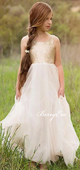 Straps Sequin Top Tulle Flower Girl Dresses, Lovely Flower Girl Dresses, Affordable Little Girl Dresses
