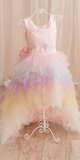 Round Neck Layers Tulle Flower Girl Dresses, Unicorn Flower Girl Dresses, Little Girl Dresses