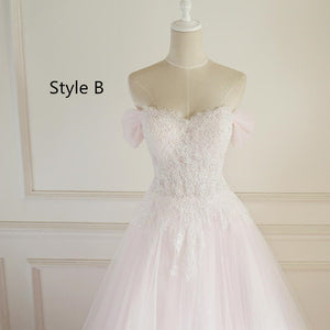 Long A-line Lace Tulle Wedding Dresses, Bridal Gown