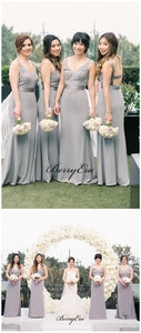 Elegant Popular Bridal Bridesmaid Dresses, Fancy Straps Bridesmaid Dresses