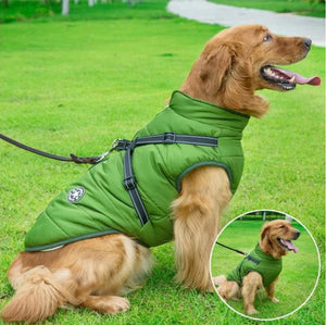 Dog Coat Winter Waterproof Jacket With Harness