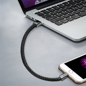 Braided Leather Bracelet Charger Mini Micro USB For iPhone And Android - systematicshop.com