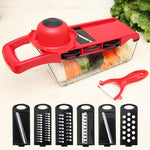 6 in 1 Multifunctional Vegetable Peeler Cutter Manual Shredder - systematicshop.com