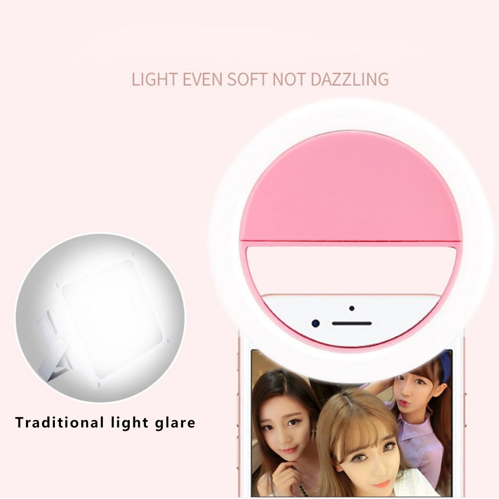 Clip On USB LED Selfie Ring Light - systematicshop.com