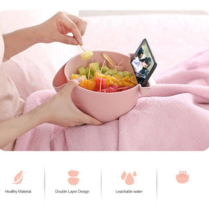 Creative Bowl Dish Double Layer Dry Fruit Snacks Seeds Containers - systematicshop.com
