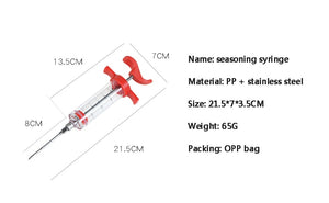 Marinade Injector Flavor Syringe  Needle For Turkey Meat