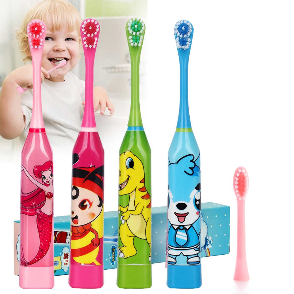 Cartoon Pattern Children Electric Toothbrush Double-sided Heads