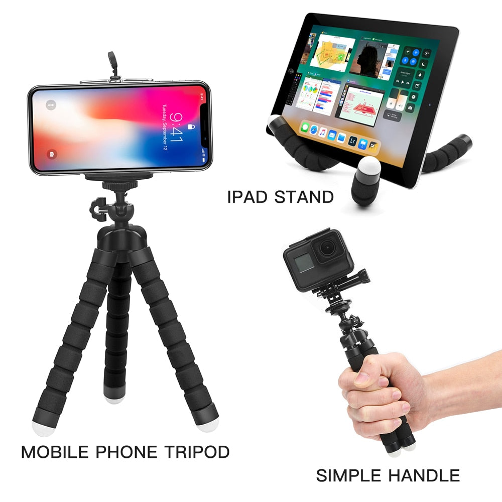 Flexible Tripod Phone Holder