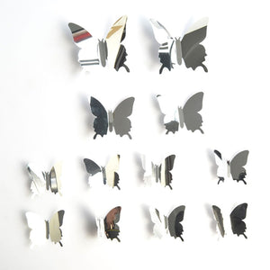 Mirror Wall Sticker Decal Butterflies 3D Mirror Wall Art