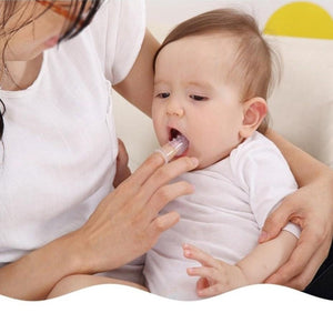 1 Set Soft Baby Finger Silicone Toothbrush with Box - systematicshop.com