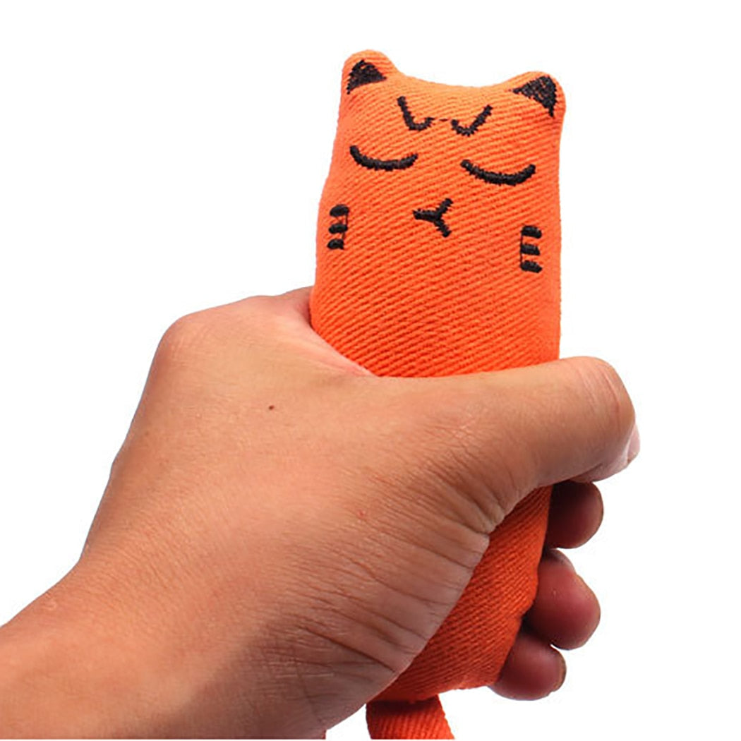 Cat Grinding Catnip Toys Funny Interactive Plush Cat Toy