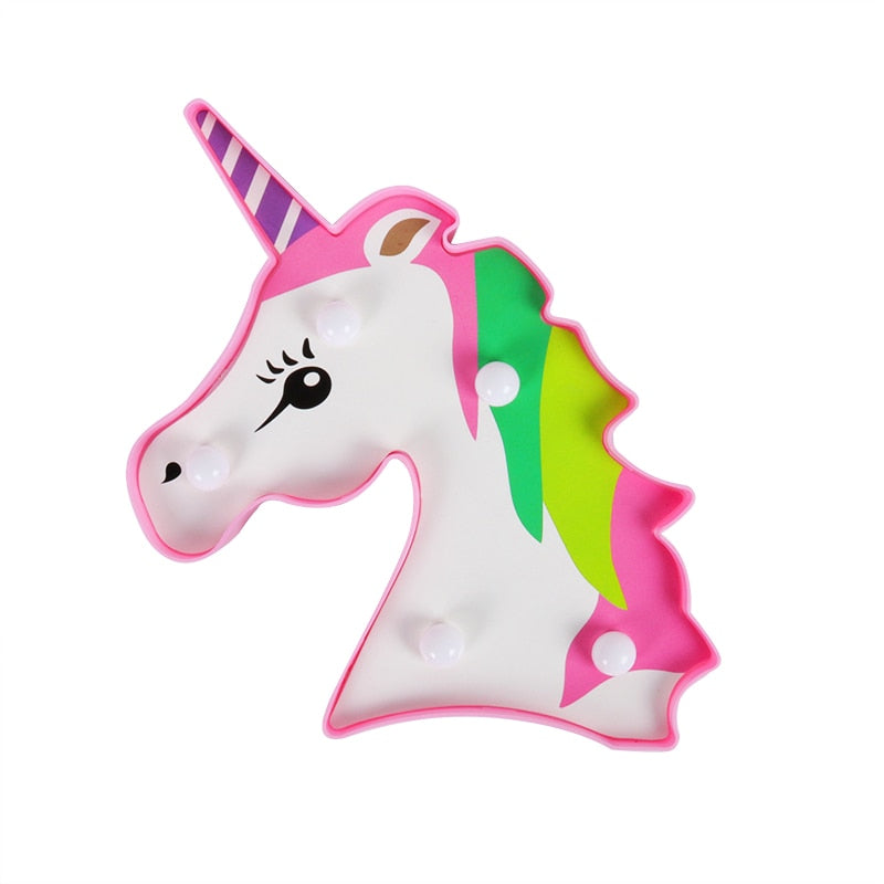 3D Unicorn Lamp LED Night Light Party Decoration