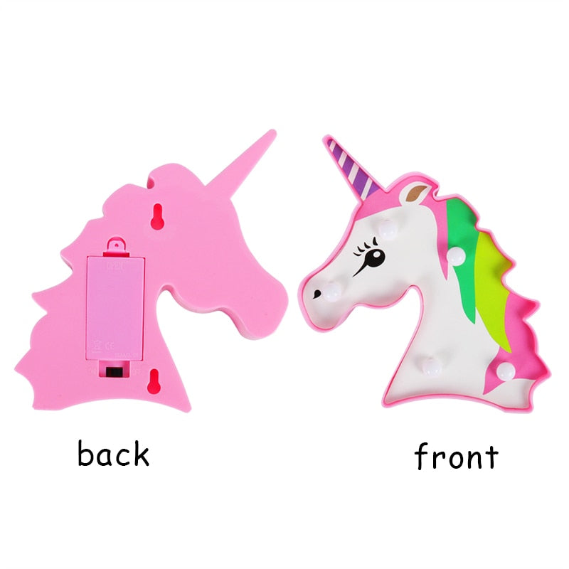 3D Unicorn Lamp LED Night Light Party Decoration - systematicshop.com