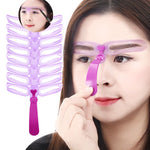 Reusable Eyebrow Shaping Template Helper 8PCS/Set